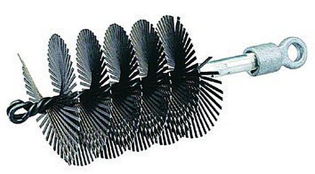 Щетка удлиненного типа со спиралевидным расположением щетины