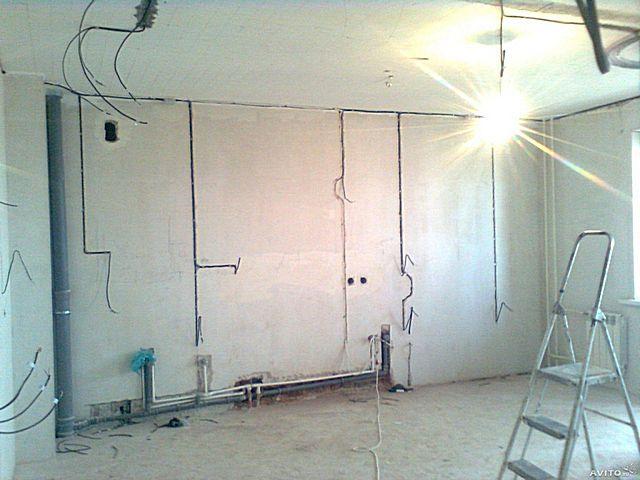 В прокладке проводки - немалая составляющая и общестроительных работ