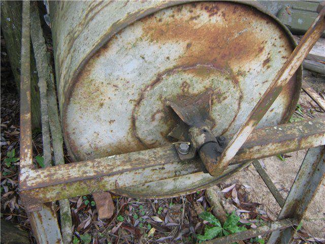Рама и узел вращения бетоносмесителя из бочки