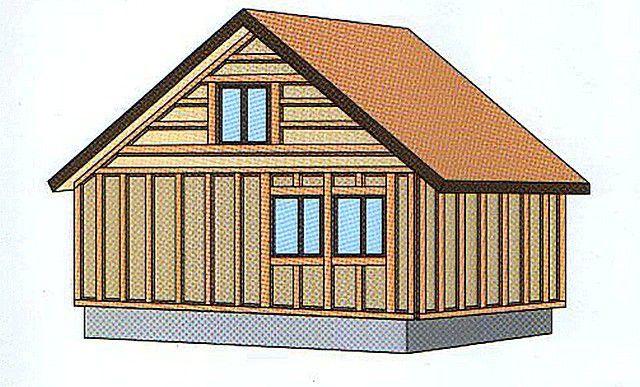 Примерная схема обрешетки на здании