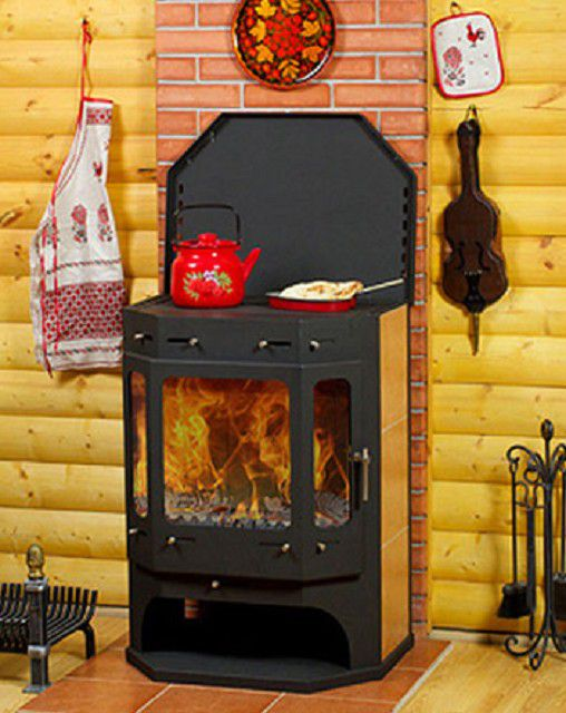 """Чрезвычайно удобная и очень функциональная печь-камин """"Бавария - Призматик"""""""