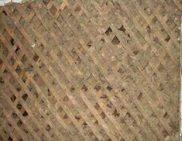 Деревянное армирование стены дранкой