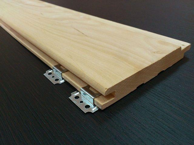 Кляммеры для скрытого крепления деревянной или пластиковой вагонки