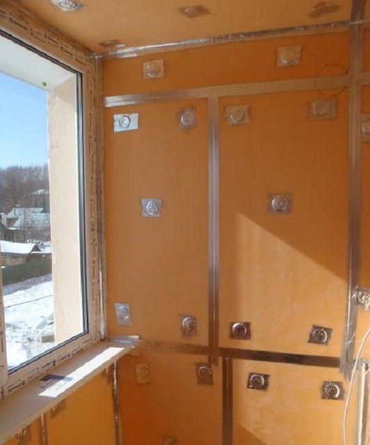 Утепление балкона панелями экструдированного пенополистирола