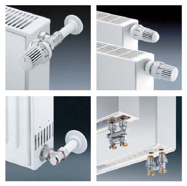 Термостатические регуляторы при разных способах подключения