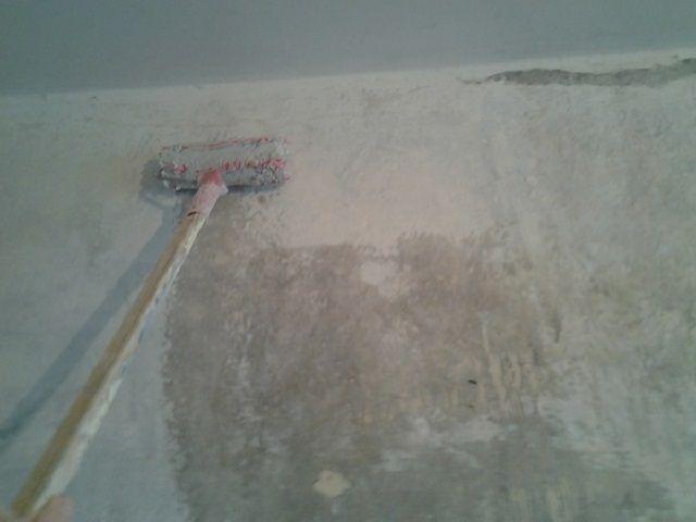 Общая грунтовка стен с одновременной антисептической обработкой