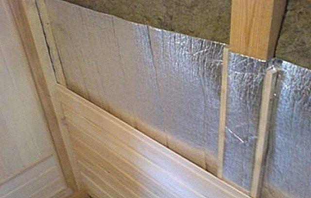 Пример обшивки стен в парной