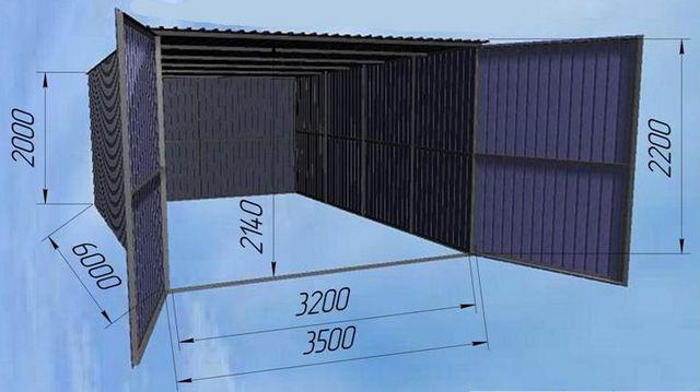 Одна из самых простых конструкций с односкатной крышей