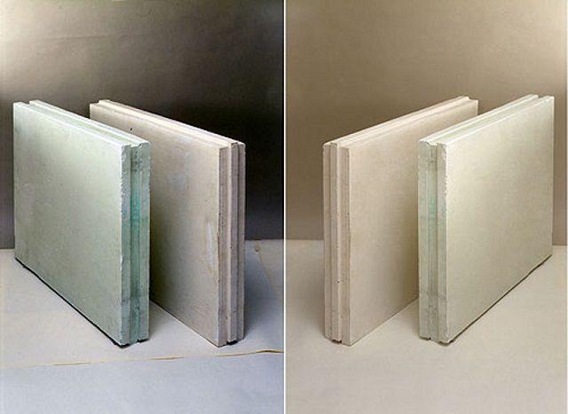 Крупные пазо-гребневые гипсовые плиты позволяют возвести перегородку очень быстро
