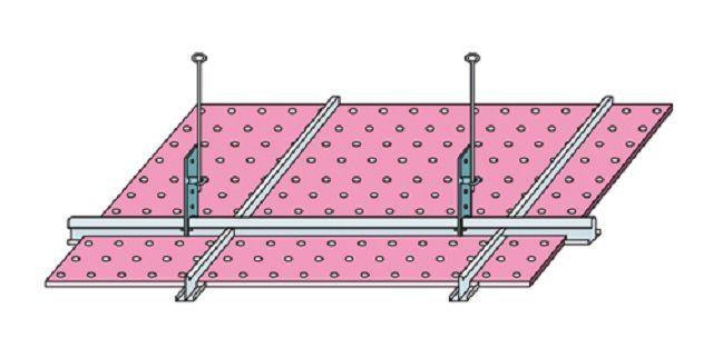 Схема расположения подвесов