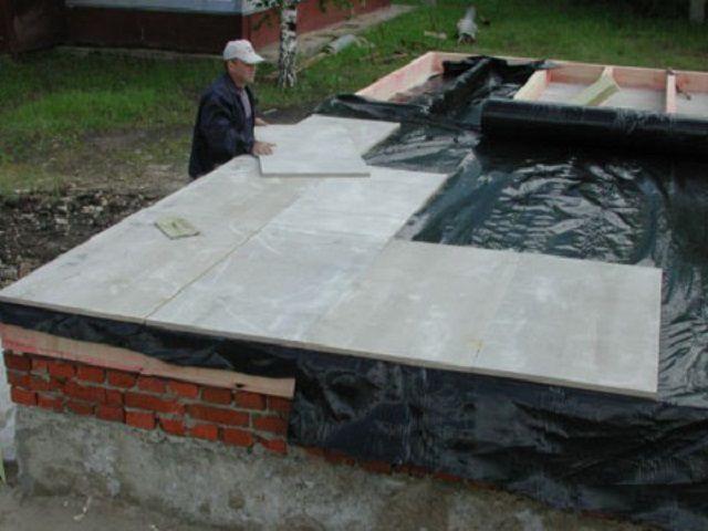 Обшивка пола цементно-стружечными плитами (ЦСП)