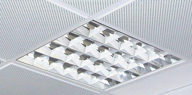 Блок со встроенным люминесцентным светильником