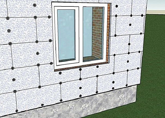 Схема расположения плит пеноплекса на фасаде дома
