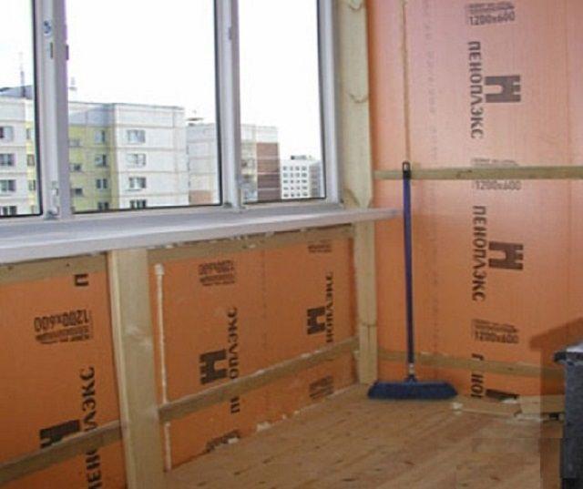 Применяют пеноплекс и для утеплительных работ внутри помещений