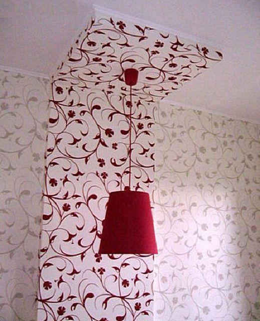 Выделение выступа на стене и потолке