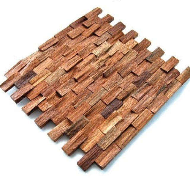 Деревянная мозаичная панель