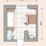 Возможная планировка в ванной комнате