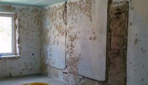 Голая подготовленная стена