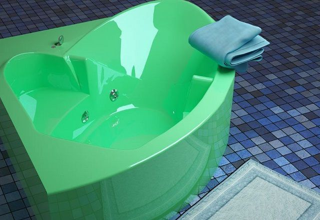 Акриловая ванна может быть затонированной в приятные глазу оттенки ...