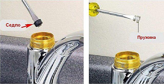 Извлечение седел клапанов и поджимных пружин
