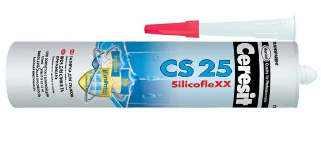 Туба (картридж) с силиконовой затиркой «Ceresit CS 25»
