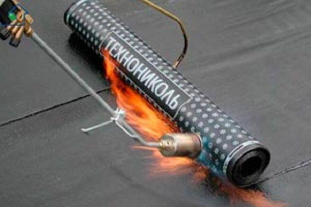 Укладка рулонного материала горячим способом