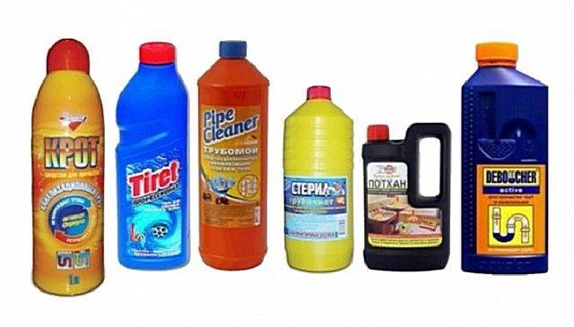 Ассортимент специальных химических составов для ликвидации засоров и их профилактики - очень широк