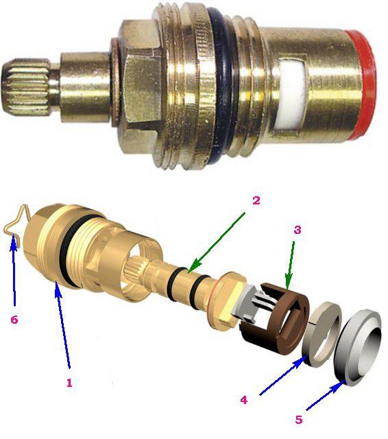 Устройство кран-буксы с керамическим клапаном