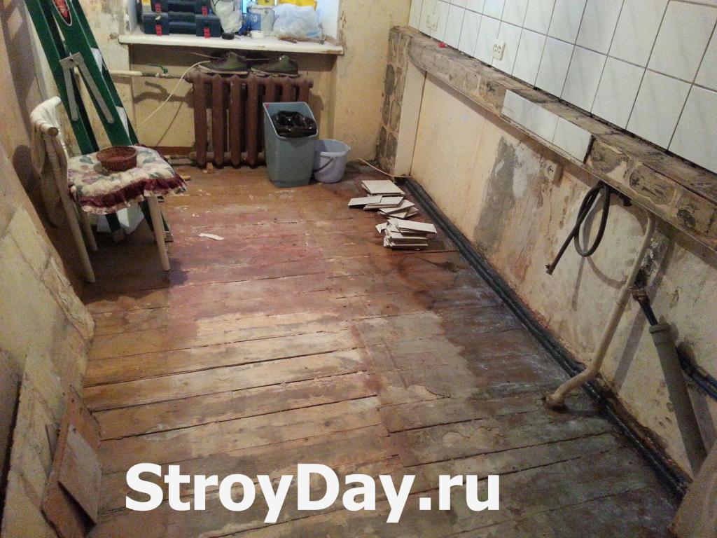 Кухонный фартук до ремонта