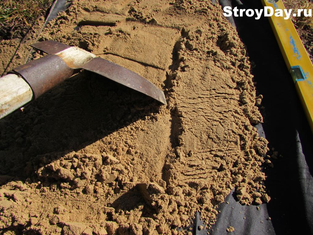 Заполнение песком