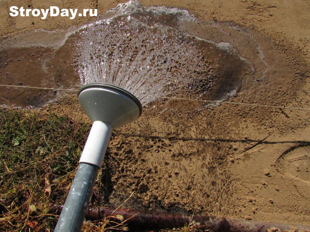 Орошение песчаного слоя