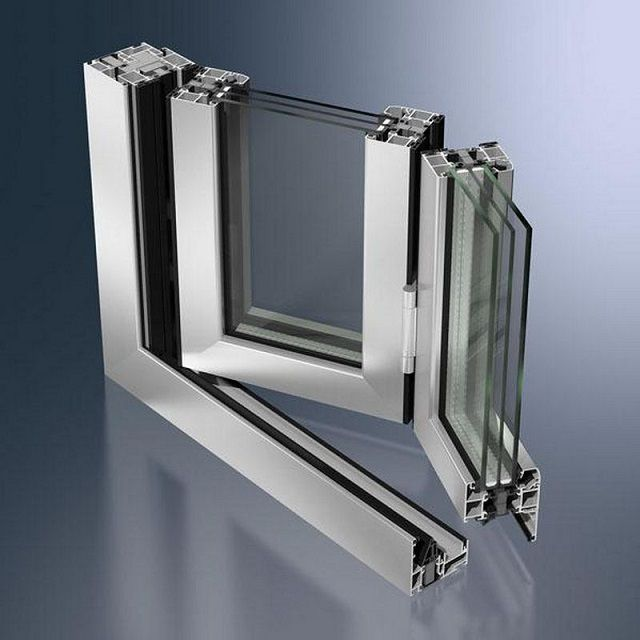"""Складные створки-""""гармошки"""" из алюминиевого профиля сложной конфигурации"""