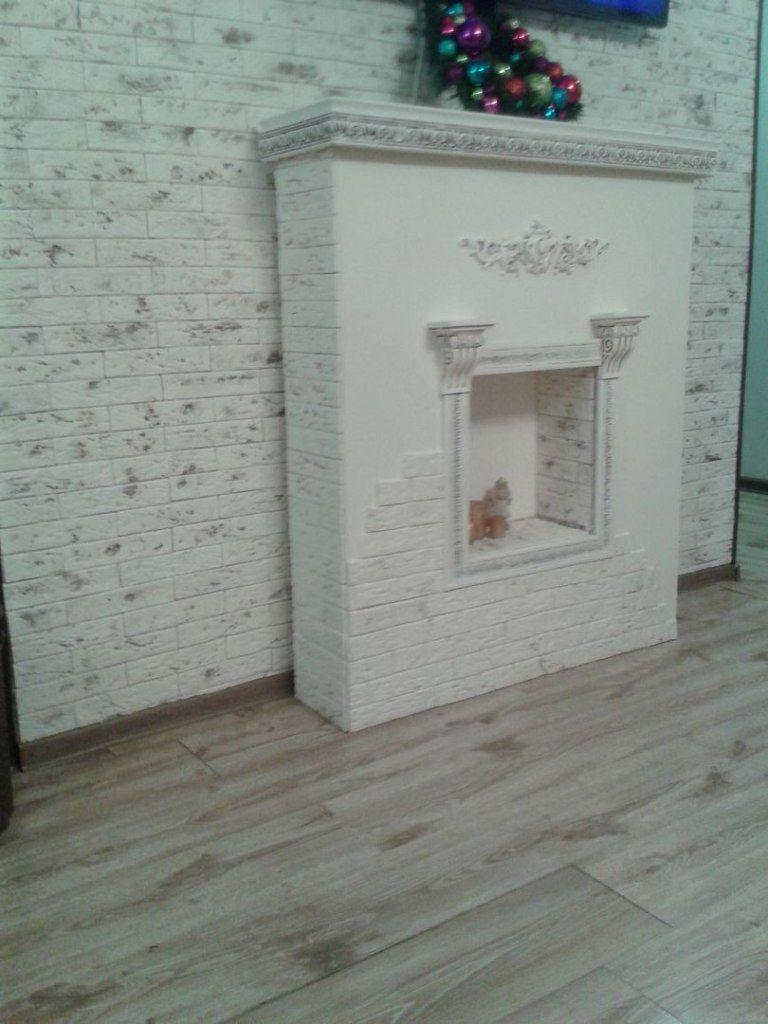 Декоративный камин из старого шкафа своими руками + декоративное оформление