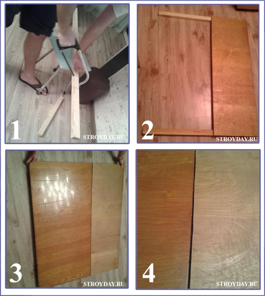 Процесс сбора задней стенки для камина