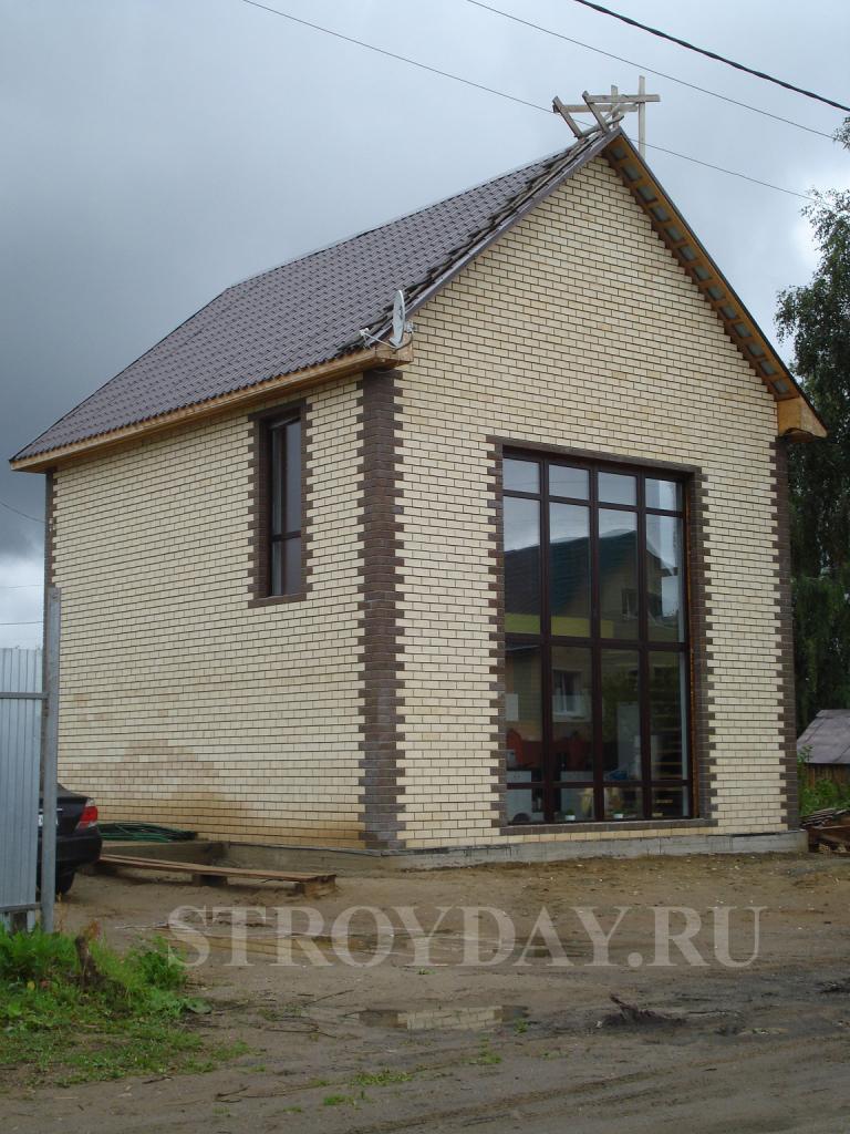 Облицовка дома из сип-панелей керамическим кирпичом