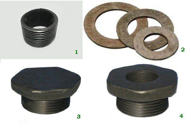 Основные запчасти для сборки чугунного радиатора МС-140
