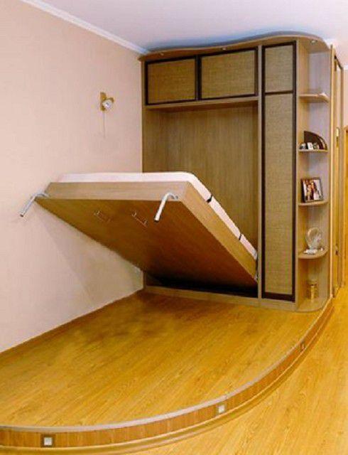 В сложенном состоянии кровать будет имитировать обыкновенный шкаф