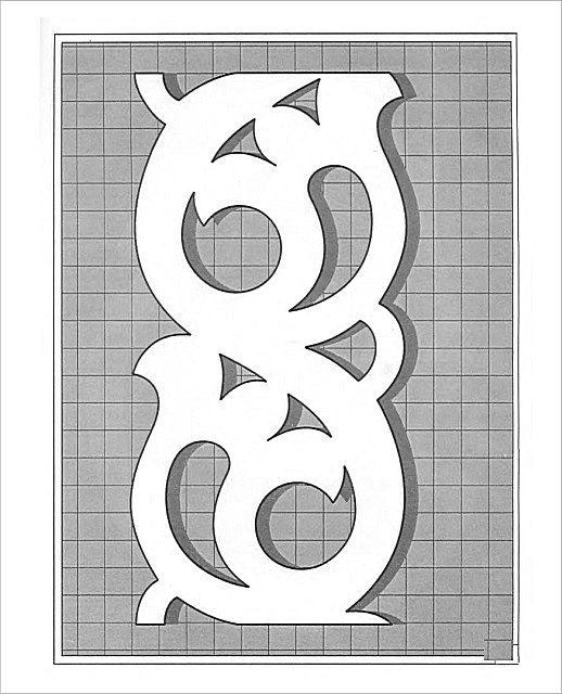 Шаблон для переноса орнамента на доску