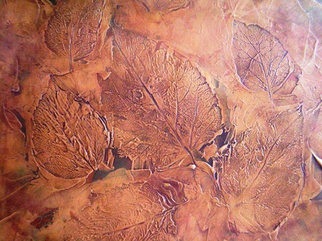 Рельефный рисунок, выполненный в стиле имитации венецианской штукатурки