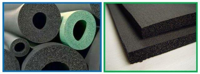 Термоизоляционные трубки и полотна из вспененного каучука