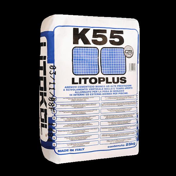 LITOPLUS K55 (Литокол к 55)– сухая клеевая смесь на основе белого цемента