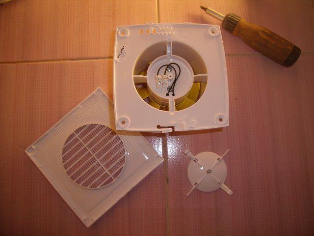 Установка вентилятора в ванной своими руками