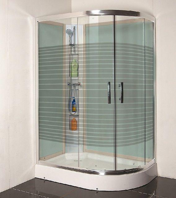 Душевая кабинка с алюминиевым фигурным каркасом