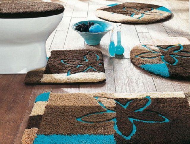 Особый уют в ванной и туалете создадут правильно расположенные коврики
