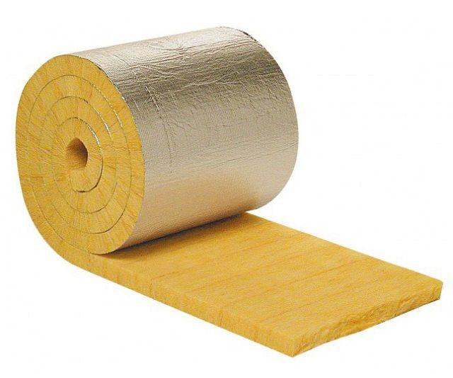 Лучше всего использовать плотную минеральную вату с фольгированным слоем