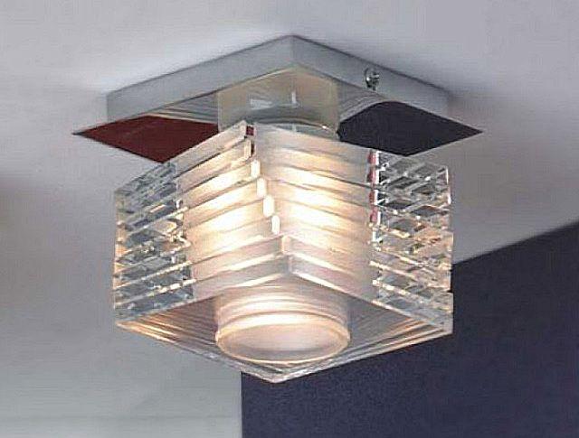 Для накладных светильников необходимо над подвесным потолком предусмотреть монтажные площадки