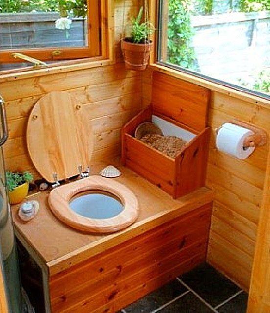Засыпку при пользовании туалетом можно производить и вручную - рядом для этого расположить ящик с наполнителем.
