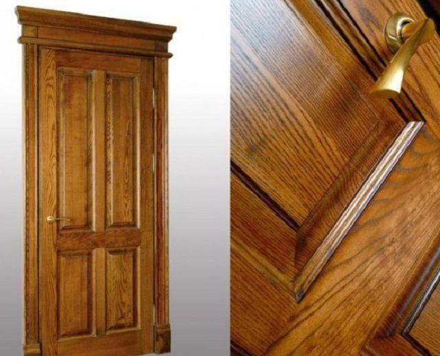 Большой популярностью пользуются филенчатые двери