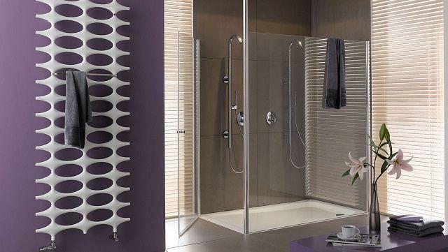 """""""Классическое"""" расположение полотенцесушителя - на стене ванной комнаты"""