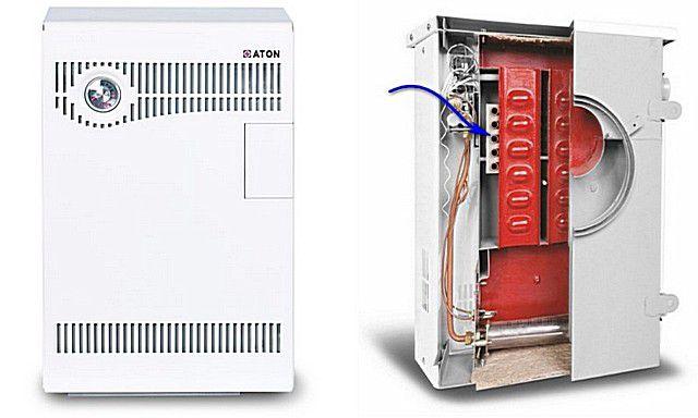 """Парапетный котел """"ATON Compact АОГВ-7Е (мини)"""" с проточным нагревателем воды"""